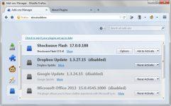Включение плагинов в Mozilla Firefox