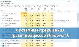 Процесс системные прерывания грузит процессор