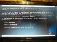 File boot bcd status 0xc00000e9 как исправить?