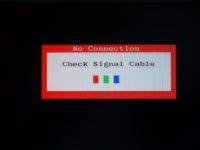 Почему нет видеосигнала на мониторе компьютера?