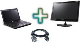 Как соединить ноутбук с монитором от компьютера?