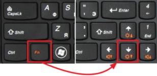 Как уменьшить свет экрана ноутбука?