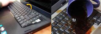 Как восстановить залитую клавиатуру ноутбука?