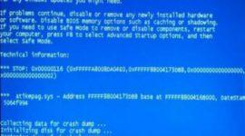 Ошибка 0x00000116 Windows 7 как исправить?