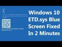 Etd sys Windows 10 как исправить?