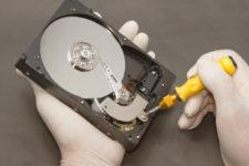 Как смазать жесткий диск компьютера?