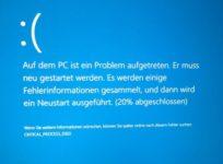 Critical process died Windows 8 как исправить?