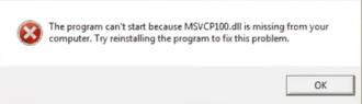 Msd100m dll not found как исправить?
